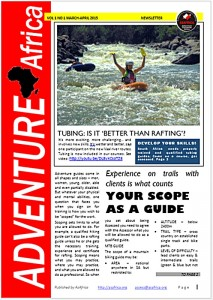 ADVENTURE AFRICA NEWSLETTER PAGE 1