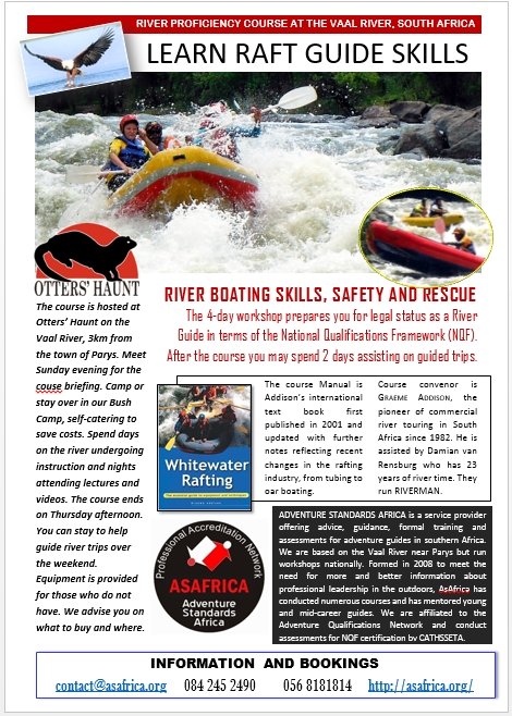 LEARN RAFT GUIDE SKILLS 2014